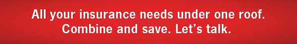 All your insurance needs under one roof. Combine and Save. Let's Talk