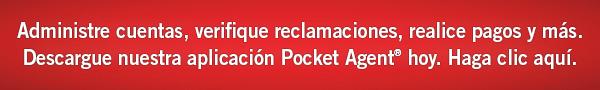 Administre cuentas, verifique reclamaciones, realice pagos y más. Descargue hoy   nuestra aplicación Pocket Agent. Haga clic aquí.